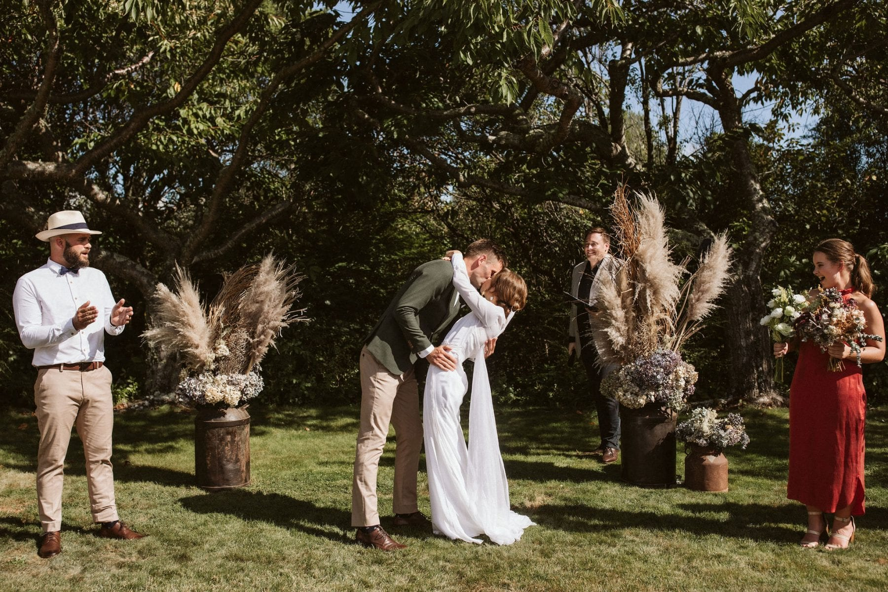 Sarah + Jeremy \\ Taupo Wedding captured by Ana Galloway. Hayes Bridal, Meadowlark. Modern Bride. New Zealand.